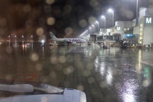MUC - Starker Regen in München am Abend