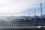 Utrecht, Niederlande - Einfahrt in den Bahnhof