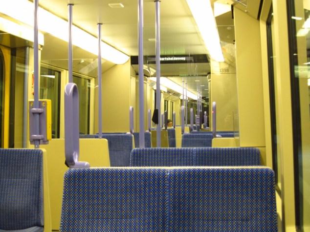 Eckartshaldenweg (Pragfriedhof) - Nachts in der U-Bahn in Stuttgart