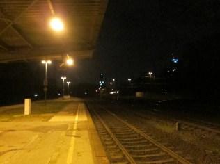Alter Bahnhof bei Nacht