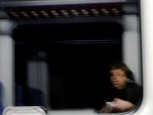Deutschland - Selfie im Zugfenster