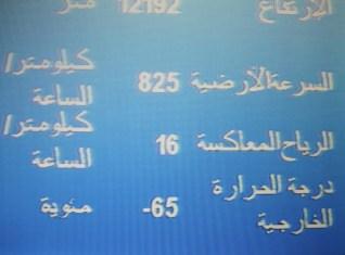 Anzeige im Flugzeug nach Dubai