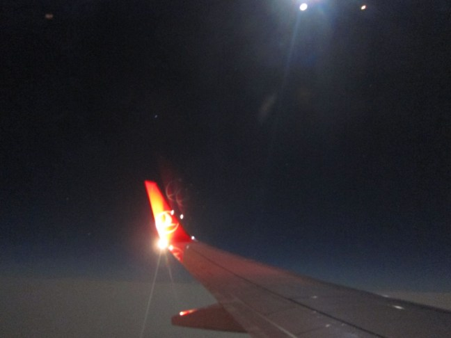 TK 677 - Nachtflug bei Vollmond nach Istanbul