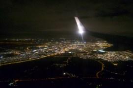 Nachts irgendwo über Belgien