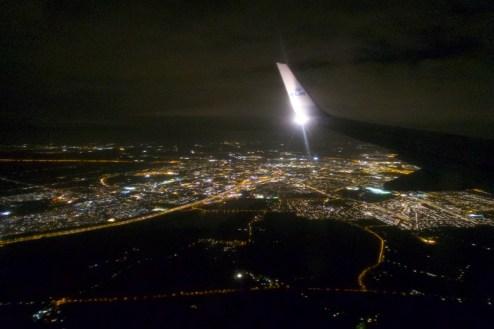 KL 1656 - nachts irgendwo über Belgien