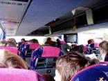 Im Bus auf Exkursion nach Frankfurt