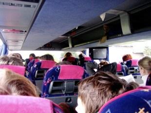 Frankfurt - im Bus auf Exkursion