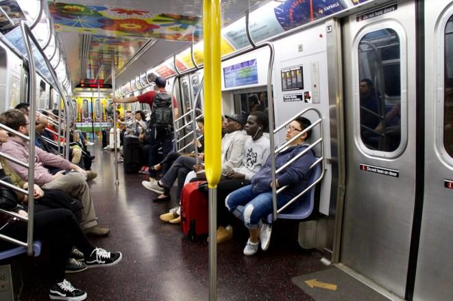 New York - in der U-Bahn