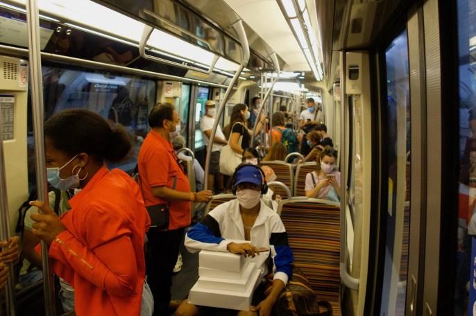 Paris - Metro in Zeiten des Corona-Virus