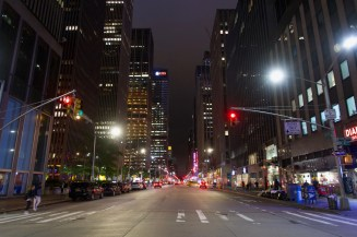 Abends bei der 47th Straße