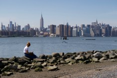 Lesen mit Aussicht, im East River State Park