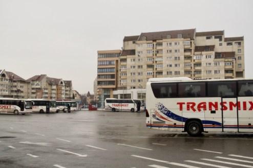 Sibiu/Hermannstadt - auf dem Busbahnhof in Rumänien