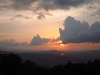 Sonnenuntergang in Kaffa, Äthiopien