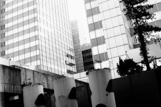 Stadthaus - dieses Foto ist mit dem Reflecta-Scanner, als Schwarzweiß-Negativ digitalisiert. Alle anderen Bierfilm-Fotos habe ich mit dem Epson als Farbnegativ in Graustufen eingescannt.