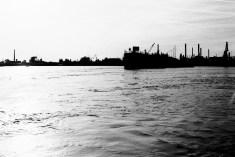Der Hafen am Rhein in Wesseling