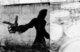 Graffiti mit botanischer Doppelbelichtung