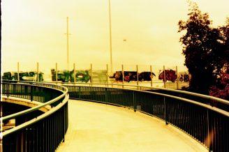 Radweg auf die Nordbrücke (Friedrich-Ebert-Brücke)
