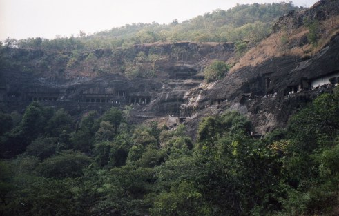 Ajanta-Höhlen Caves in India 2006 Fuji Superia 200