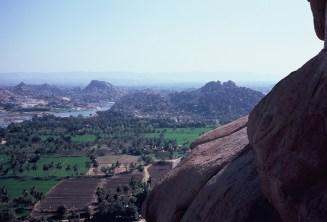 Blick vom Hanuman-Tempel bei Hampi