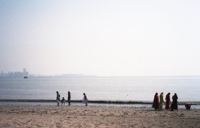 Chowpatty Beach Mumbai India 2006 Fuji Superia 200