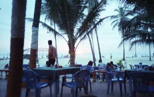Dinner Colva Beach India 2006 Fuji Superia 200