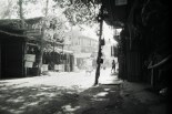 Ruhige Hauptstraße am späten Nachmittag in Palolem