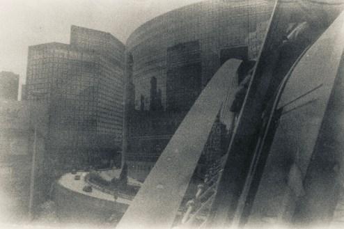 Water drops - Doppelt entwickeltes Fotoexperiment in Paris - Straße und Architektur La Défense