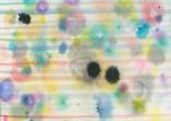 Einzelne Tropfen Frühlingsbild 31x41 cm
