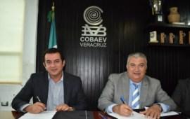 Firman convenio de colaboración COBAEV y la Dirección de Educación Tecnológica
