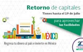 Con tu retorno de capitales fortalecemos la economía mexicana; invierte en México: SAT