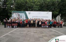 La Contraloría del Poder Judicial de Veracruz rinde Honores a la Bandera