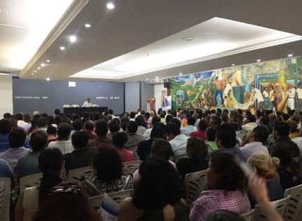 Magistrados del TSJ del Estado de Veracruz dictan conferencias a personal de juzgados