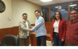 Se reunió dirigente del SUEM Gersaín Hidalgo con el Presidente Víctor Carranza