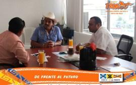TRONCO recibió la visita del Agente Municipal electo de Mundo Nuevo Cuauhtémoc López