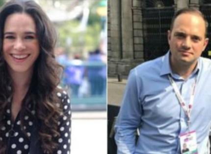 Yuriria Sierra y León Krauze, moderadores del segundo debate presidencial