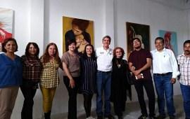 Hernández Villalpando acompaña a los prestigiados pintores veracruzanos: Kari Torres y LASO