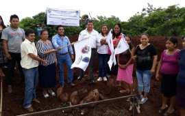 Julio Ortega inicia obra para construir tanque elevado y red de agua potable