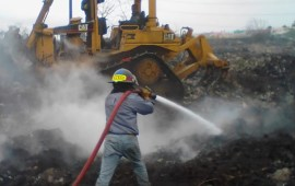 Controlado el incendio en basurero de Coatzacoalcos: SEDEMA
