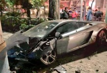 Lamborghini con valor de 2 millones de pesos, abandonado en la Roma