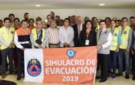 Realiza Poder Judicial simulacro de evacuación en los 21 Distritos Judiciales del Estado