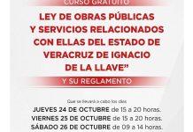 """Linares Capitanachi invita al curso """"Ley de obras públicas… «"""