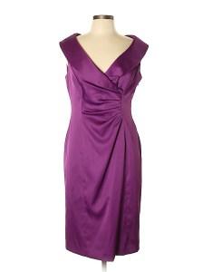Pin it evan picone women cocktail dress size also solid dark purple off thredup rh