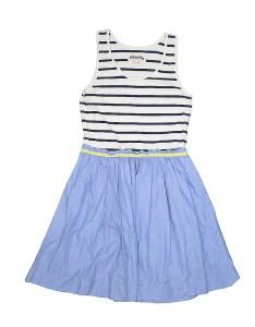 Pin it johnnie  girls dress size also cotton stripes blue off rh thredup
