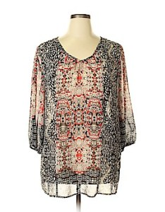Valerie stevens sleeve blouse size  also women   clothing on sale up to off retail thredup rh
