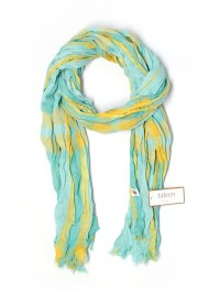 Taleen 100% Polyester Plaid Light Blue Scarf One Size - 95 ...