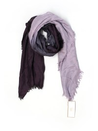 Taleen 100% Viscose Color Block Purple Scarf One Size - 54 ...