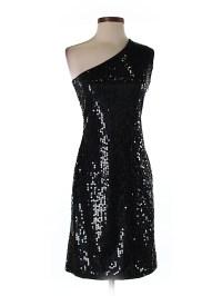 Club Monaco 100% Nylon Solid Black Cocktail Dress Size XS ...