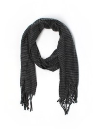 Geoffrey Beene 100% Acrylic Houndstooth Gray Scarf One ...