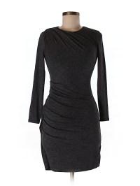 Banana Republic Solid Gray Casual Dress Size XS (Petite ...