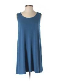 J.jill Solid Dark Blue Casual Dress Size XS (Petite) - 74% ...